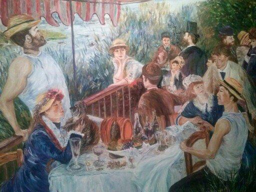 Renoir  le déjeuner des canotiers   90 x 70cm