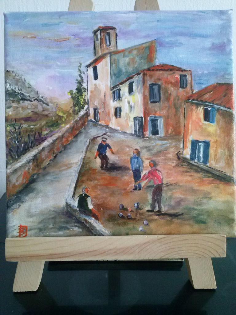Acrylique sur toile  (20 x 20cm )