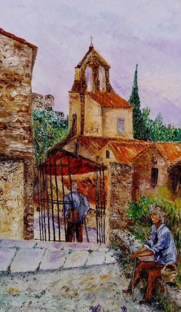 Village de Lafare ( vaucluse)   80x60cm