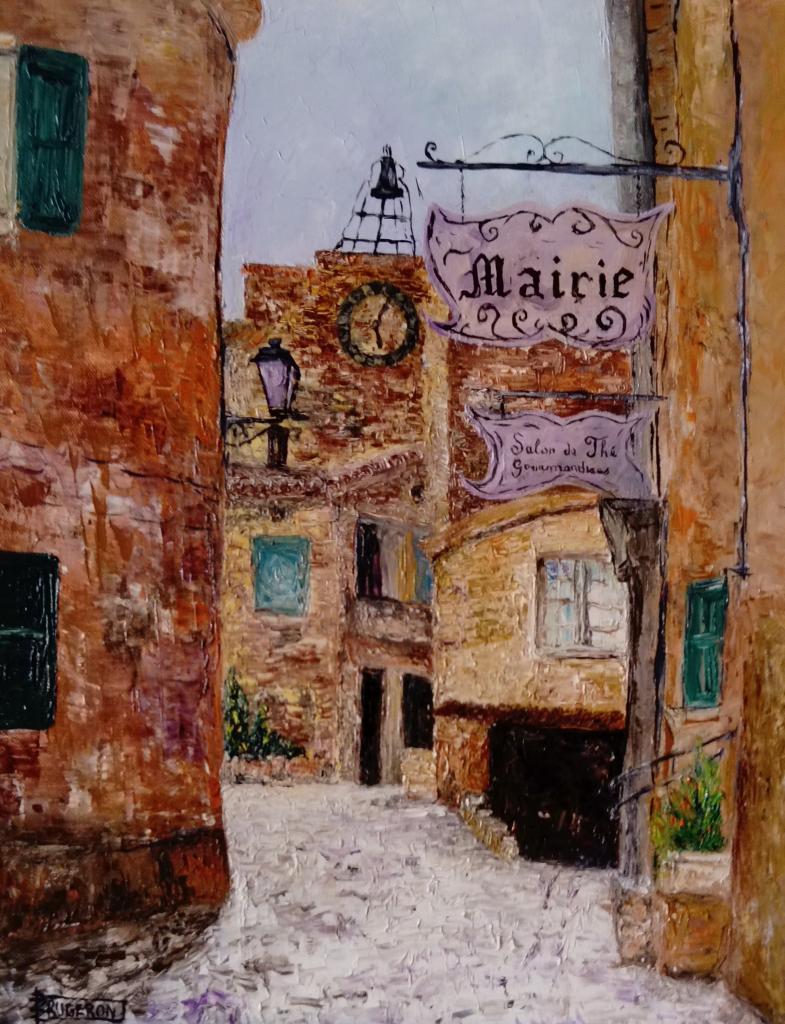 Village de Séguret  (Vaucluse)    50x40cm