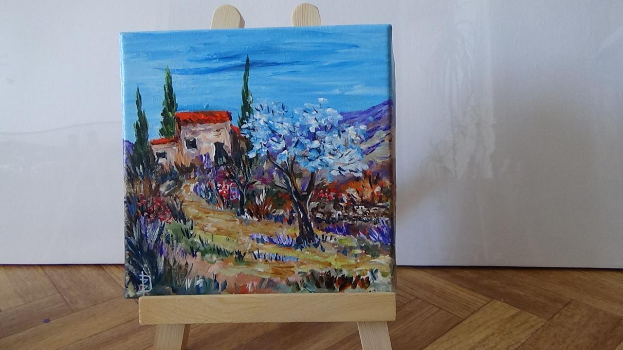 Drome provençale   (20 x 20cm)