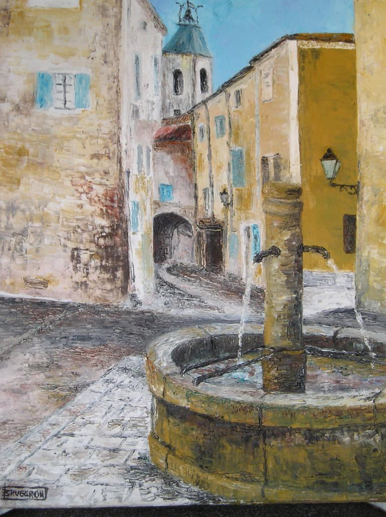 fontaine Beaumes de Venise (huile)