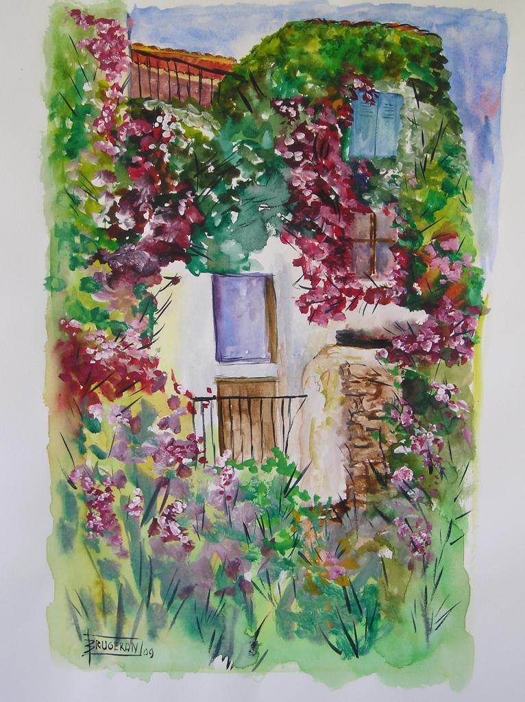 Vieux village  (aquarelle)