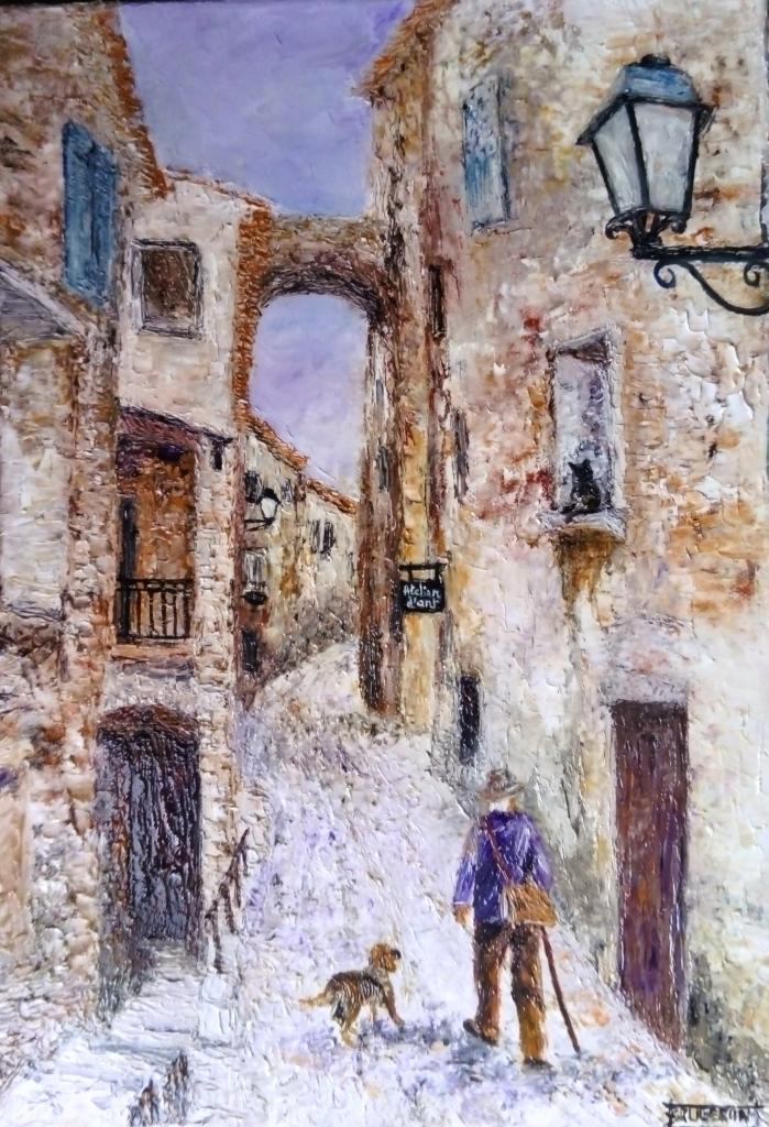 vieux village de Séguret      40x30cm