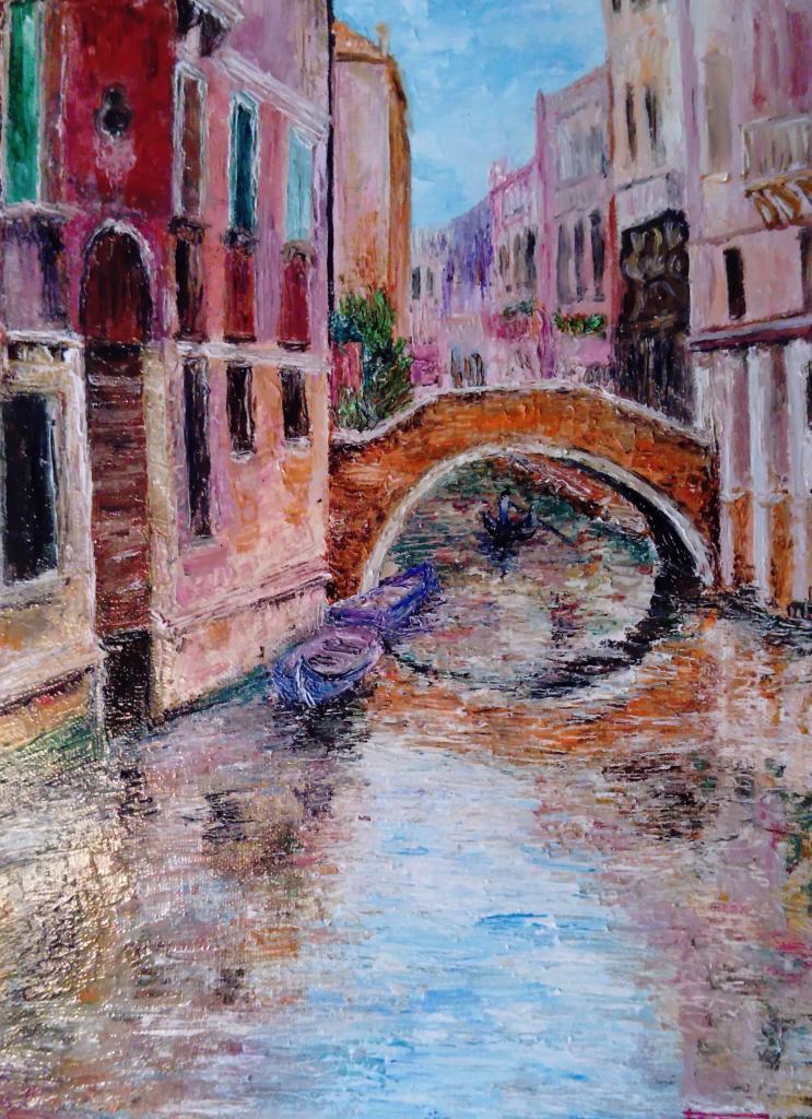 Venise  (le canal)    30x40cm